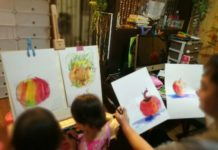 painting apple together