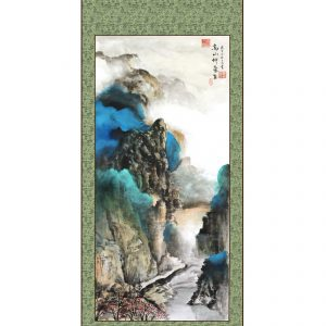 Mountains and rivers chinese painting