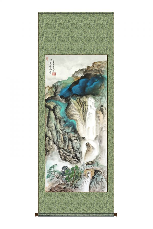 Chinese painting - mountains and waterfall